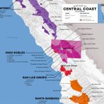 Central Coast Wine: The Varieties And Regions | Wine Folly   Central California Beaches Map