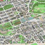 Central Edinburgh Scotland Visitors 3D Interactive Printable Inner   Edinburgh Street Map Printable