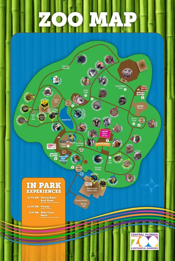 Central Florida Zoo & Botanical Gardens Map Of The Zoo - Central - Florida Botanical Gardens Map