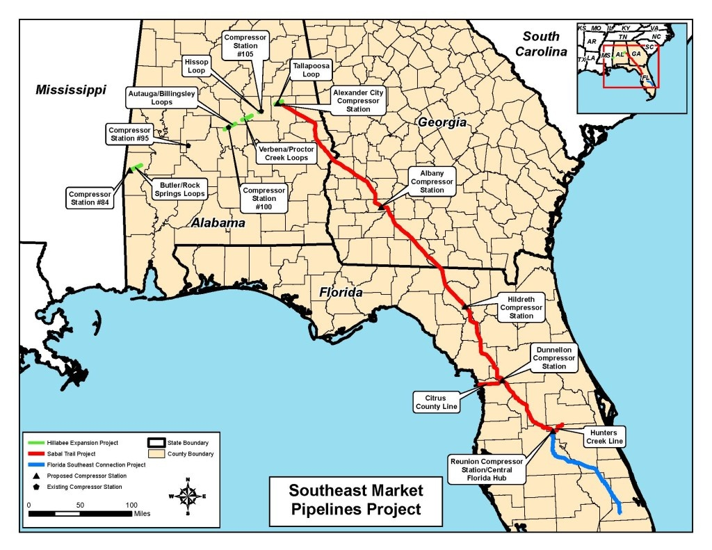 Certification Of New Interstate Natural Gas Facilities | Wwals - Natural Gas Availability Map Florida
