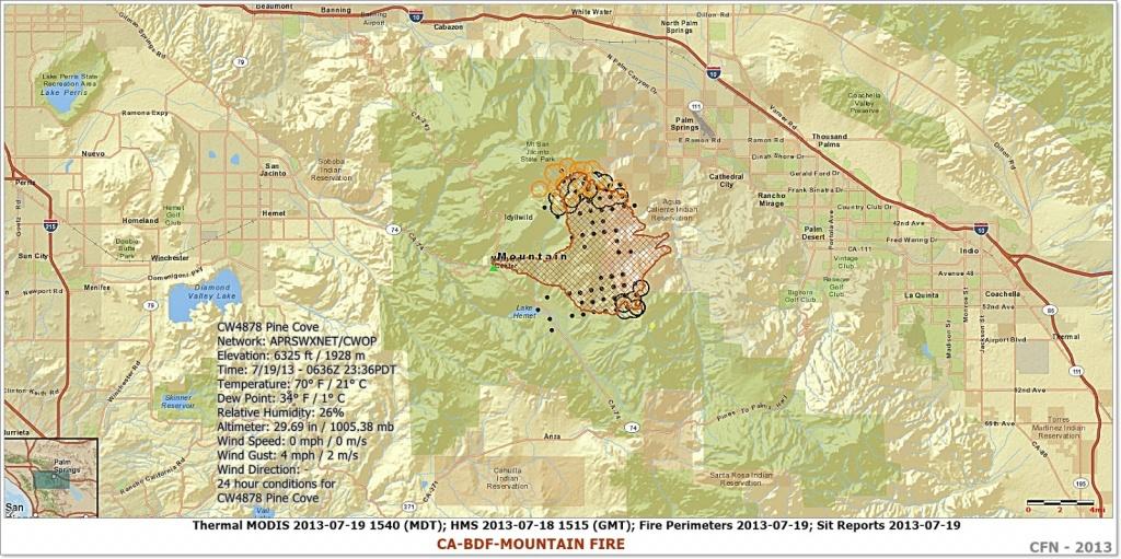 Cfn - California Fire News - Cal Fire News : #mountainfire - California Mountain Fire Map