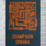 Champaign Urbana, Illinois Street Map Print | Our New House   Printable Map Of Champaign Il