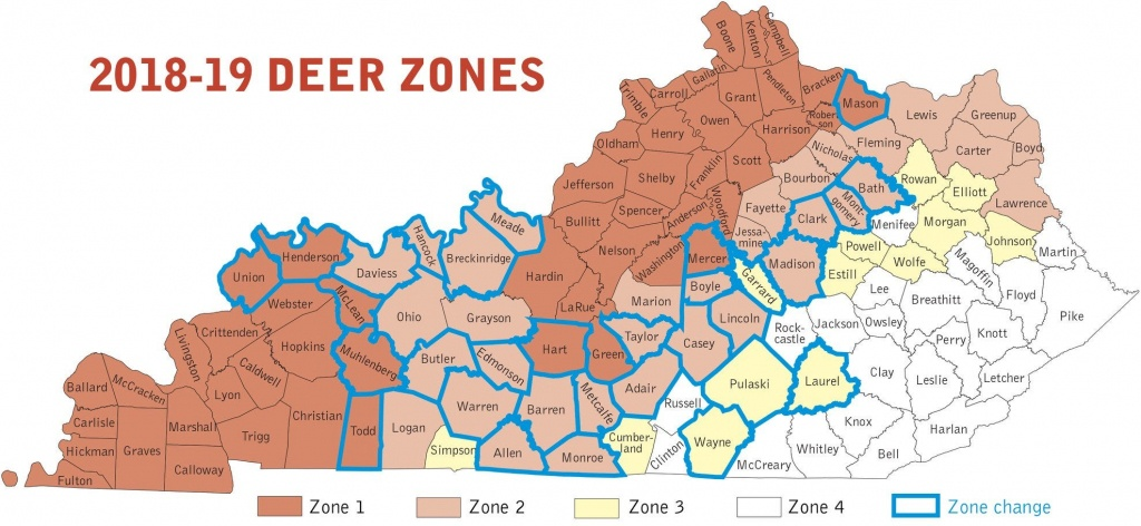 Changes Coming For Kentucky Deer Hunters As Season Starts Saturday - Texas Deer Hunting Zones Map