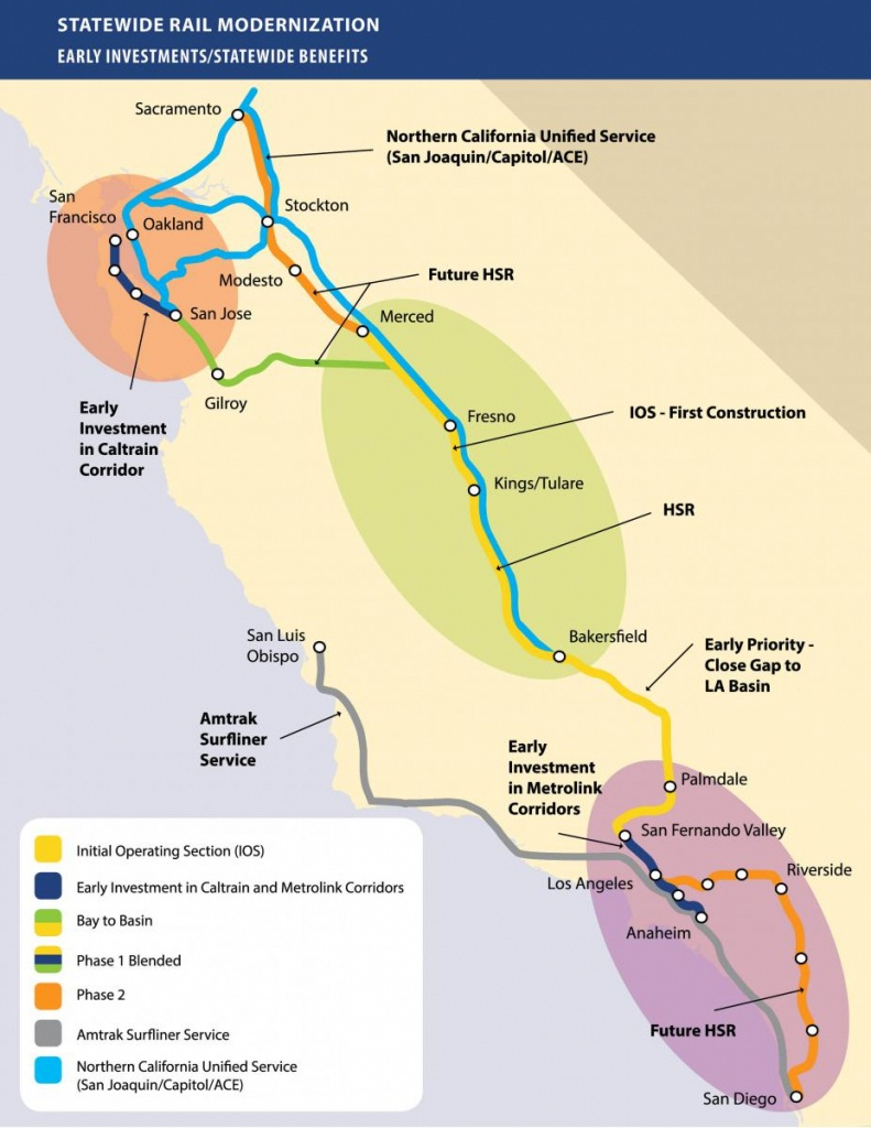 Chapter's Stance On California's High-Speed Rail Project | Sierra - California High Speed Rail Project Map