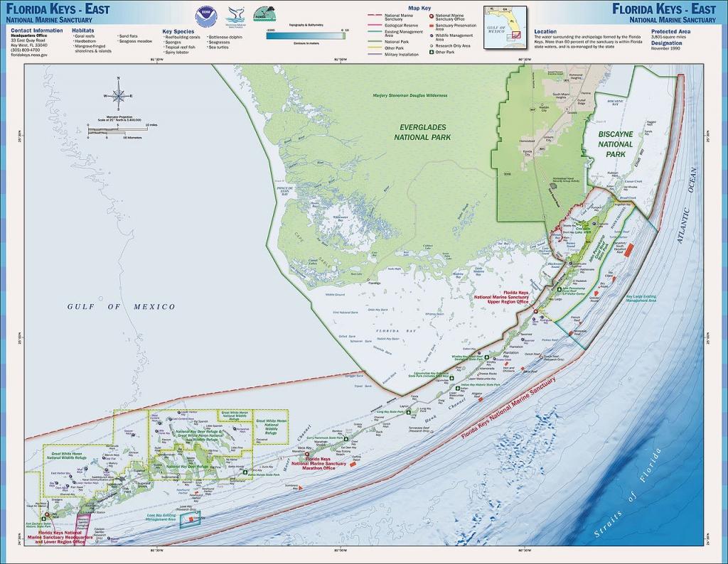 Charts And Maps Florida Keys - Florida Go Fishing - Florida Fishing Reef Map