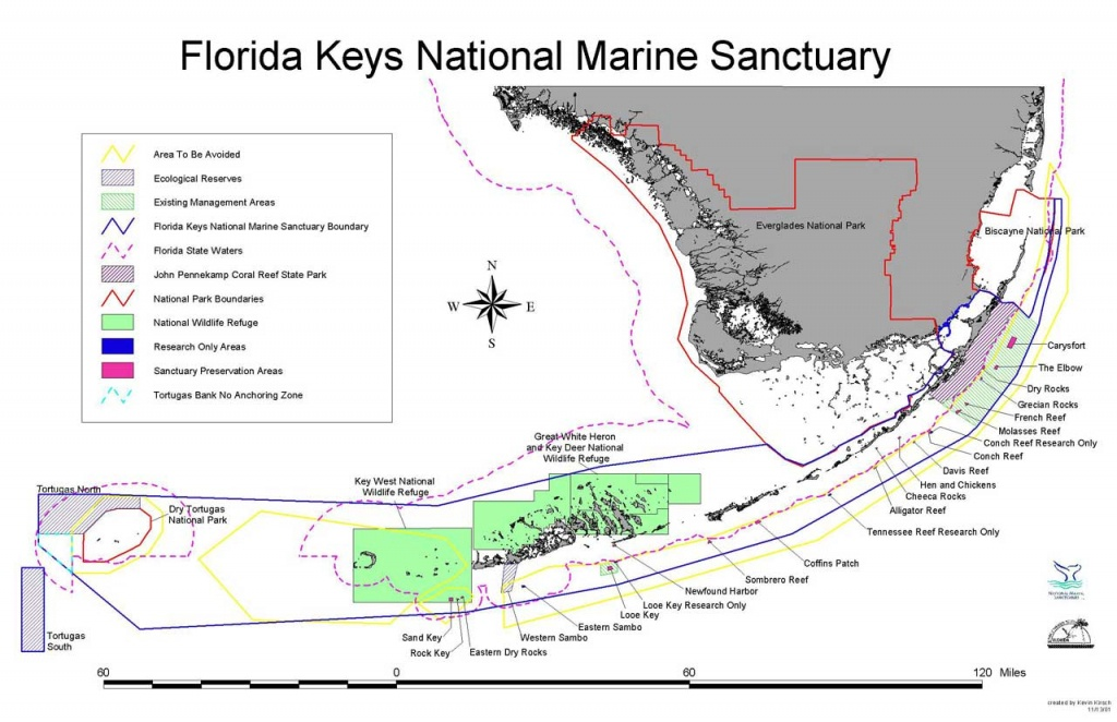 Charts And Maps Florida Keys - Florida Go Fishing - Florida Keys Spearfishing Map