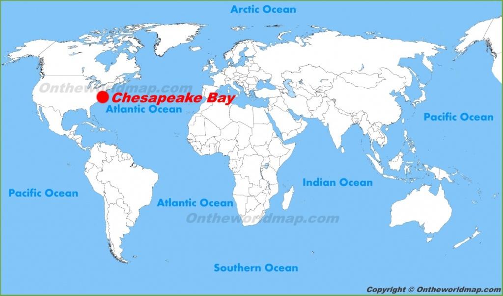 Chesapeake Bay Maps   Maps Of Chesapeake Bay - Printable Map Of Chesapeake Bay