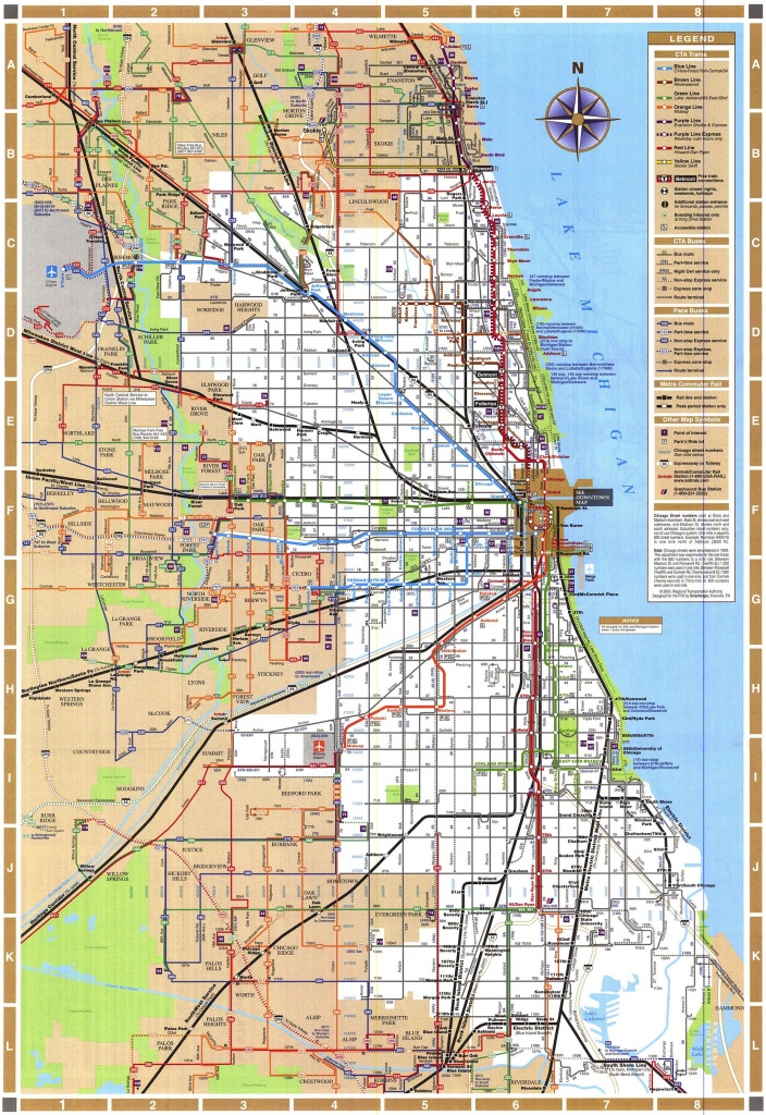 Chicago Train Map - Chicago Illinois • Mappery | Maps & Charts - Chicago Loop Map Printable