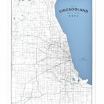 """Chicagoland   A Map Of Chicago And Its Suburbs 18"""" X 24"""" Screen Print   Printable Map Of Chicago Suburbs"""