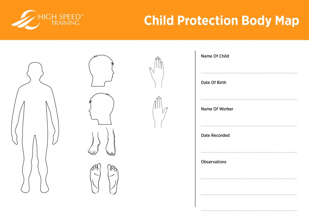Child Protection Body Map Template | Safeguarding Advice - Printable Body Maps