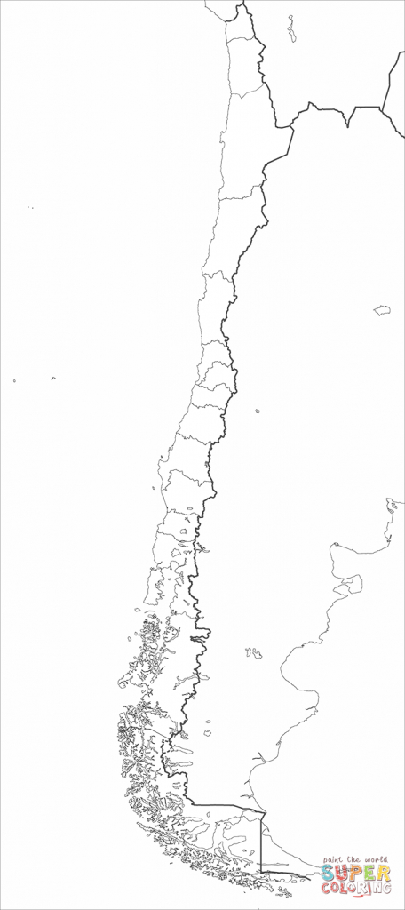 Chile Map Coloring Page   Free Printable Coloring Pages - Printable Map Of Chile