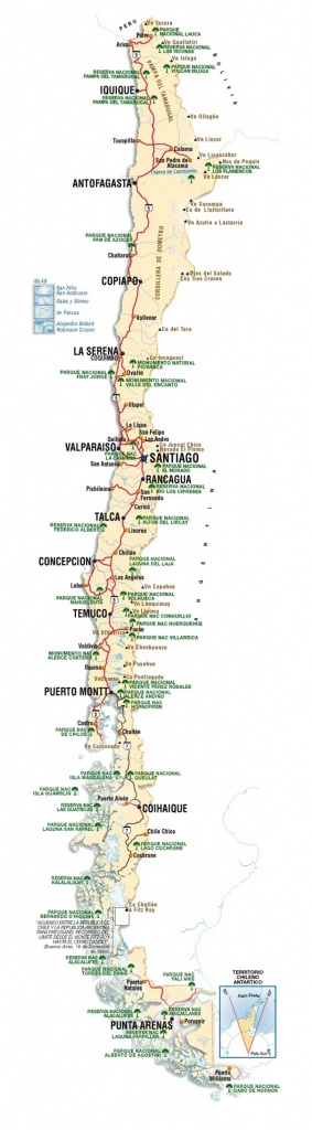 Chile Maps | Maps Of Chile - Free Printable Map Of Chile