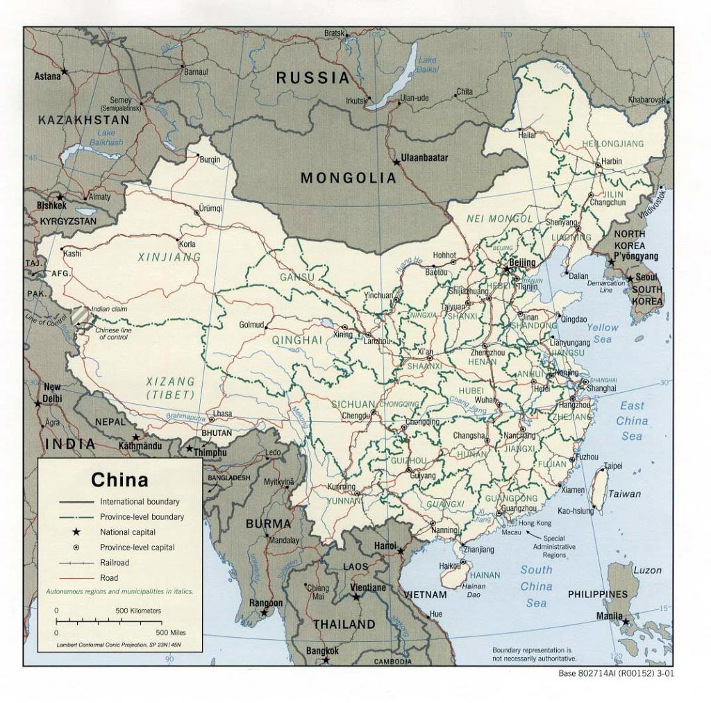 China Maps | Printable Maps Of China For Download - Printable Map Of China