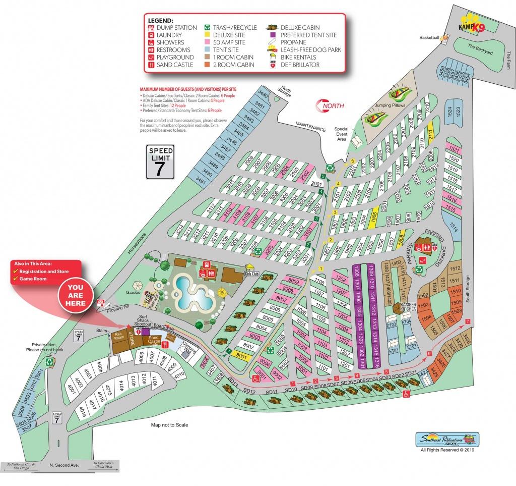 Chula Vista, California Campground | San Diego Metro Koa - California Camping Map