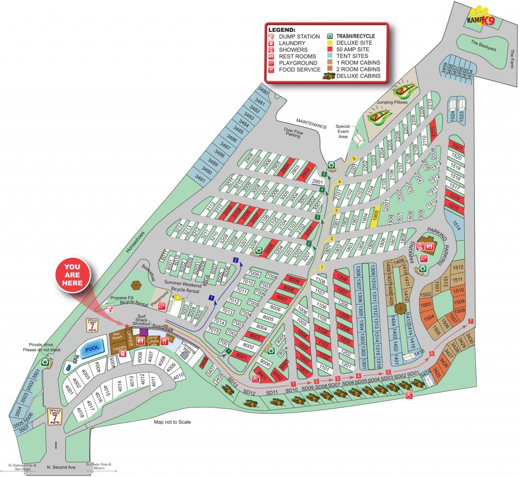 Chula Vista Koa Campground Site Map | Summertime In 2019 - California Camping Sites Map
