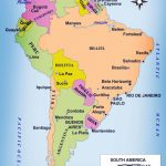 Cities In South America Map   Lgq   Printable Map Of South America With Countries