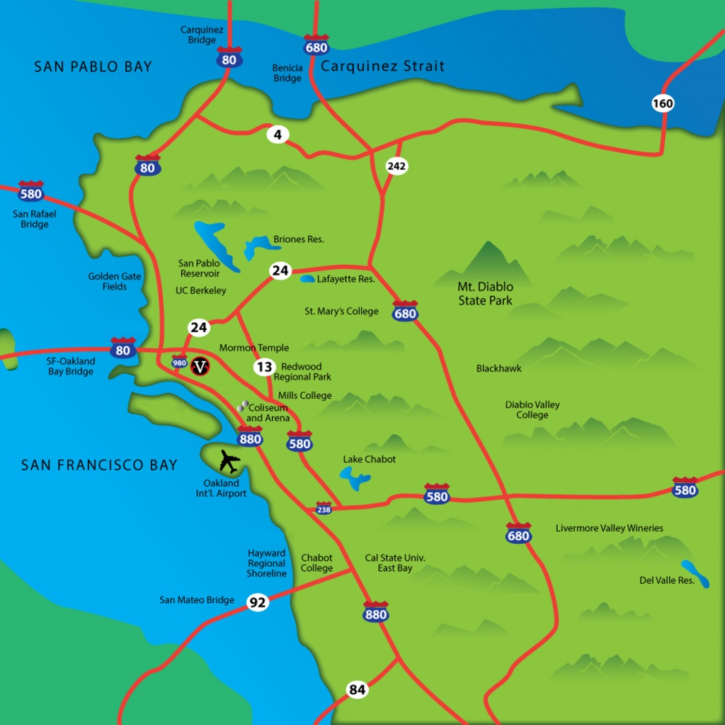 Cities Of The East Bay - Map Of Bay Area California Cities