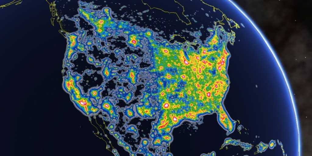 Cities With The Most Light Pollution - Business Insider - Light Pollution Map California
