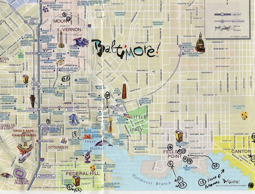 City Map Of Baltimore   City Maps - Printable Map Of Baltimore