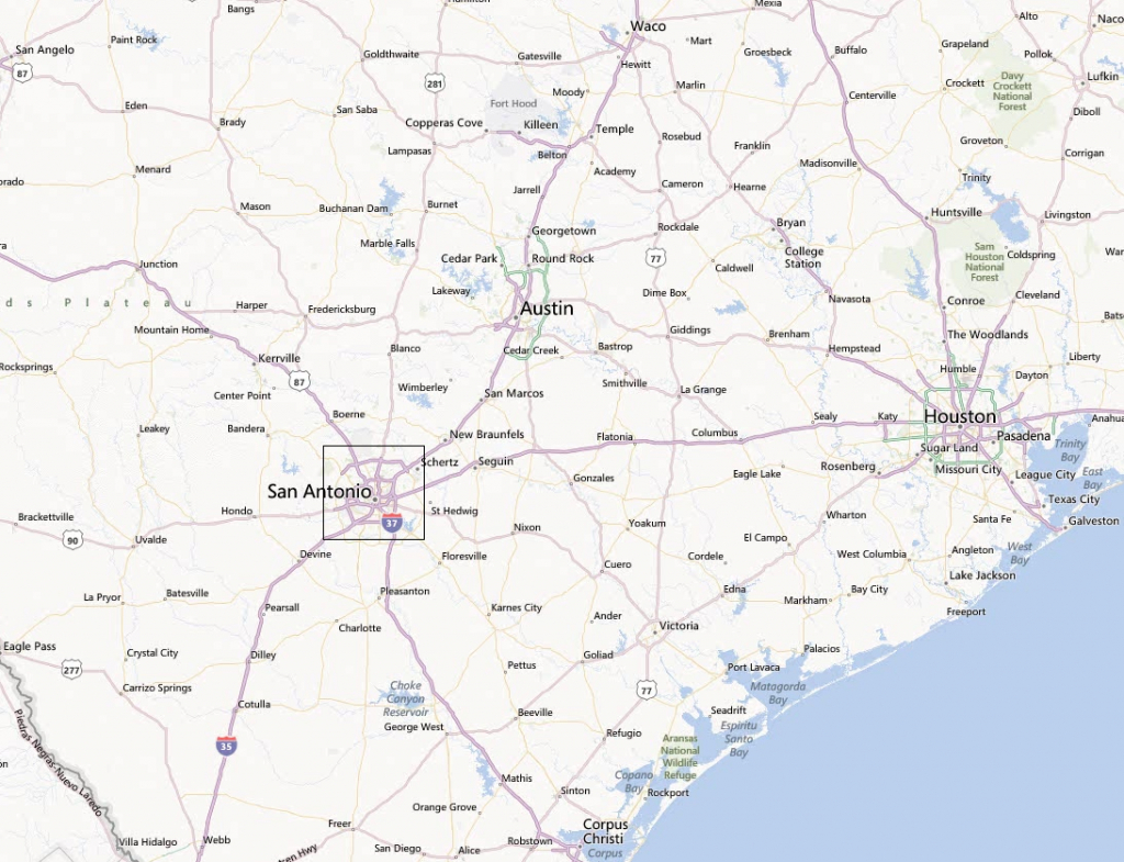 City Map Of San Antonio Texas And Travel Information   Download Free - Map Of San Antonio Texas And Surrounding Area