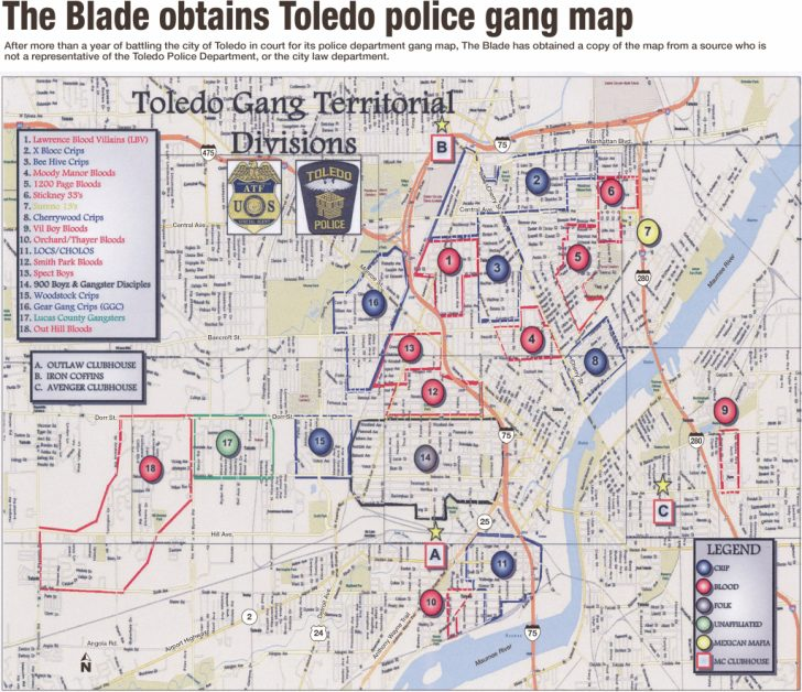 Printable Map Of Toledo Ohio