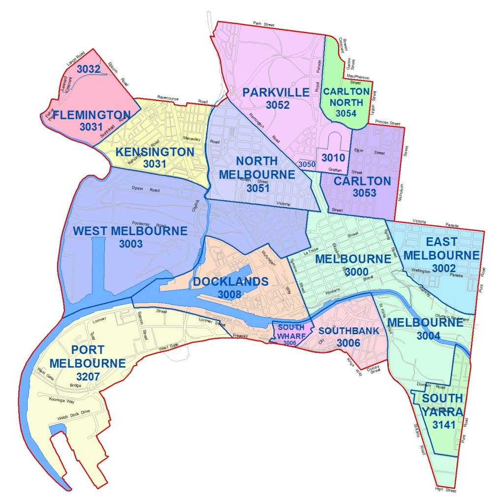 City Maps - City Of Melbourne - Melbourne City Map Printable