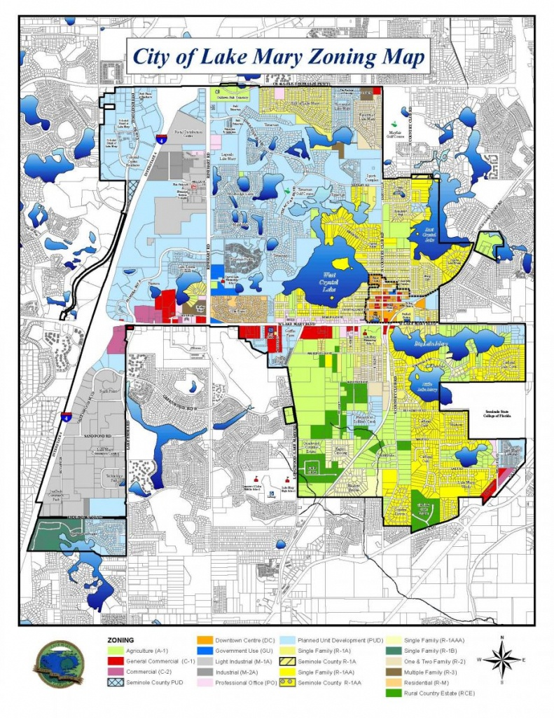 City Of Lake Mary Zoning Map | Lake Mary, Fl - Map Of Lake County Florida