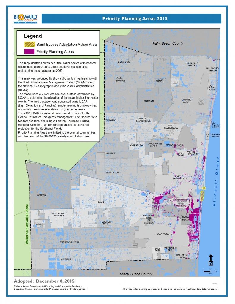 Climate Toolbox - South Florida Sea Level Rise Map