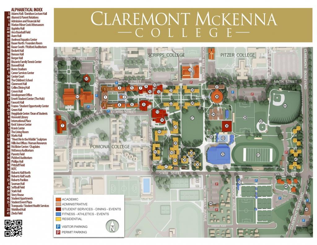 Cmc Campus Maps | Claremont Mckenna College - California Institute Of The Arts Campus Map