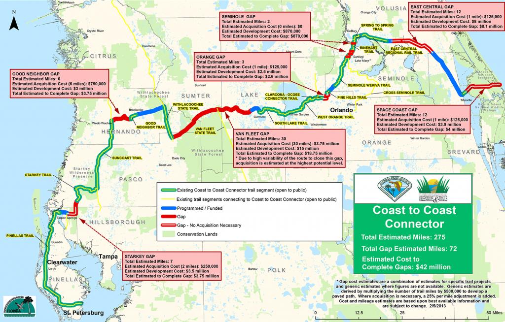 Coast To Coast Connector     Commute Orlando - Florida Rails To Trails Maps