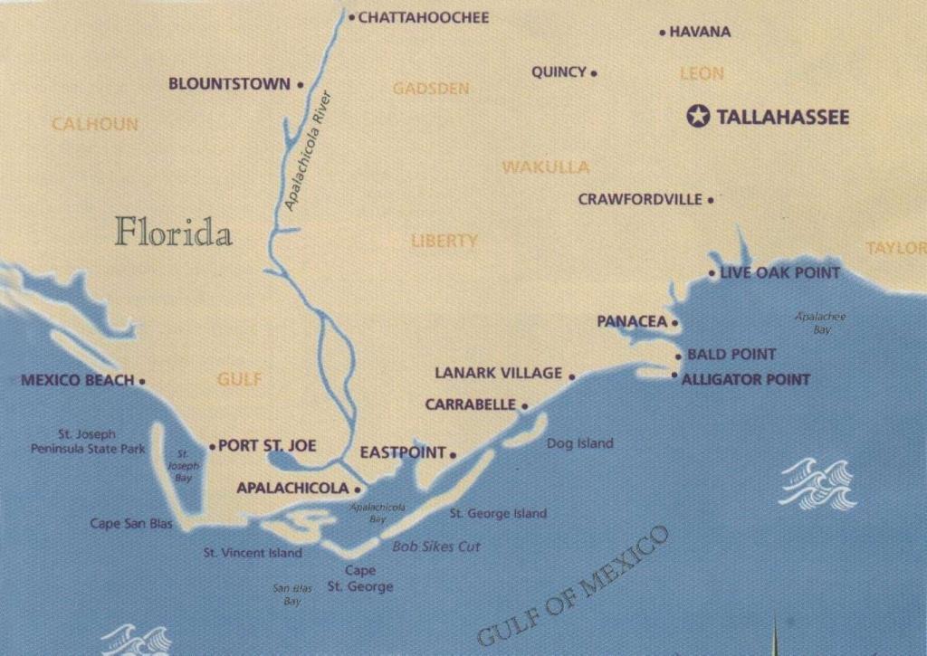 Coastal Gems Real Estate: Carrabelle, Fl- St. George Island, Fl - St George Island Florida Map