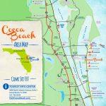 Cocoa Beach Tourist Map   Map Of South Florida Beaches