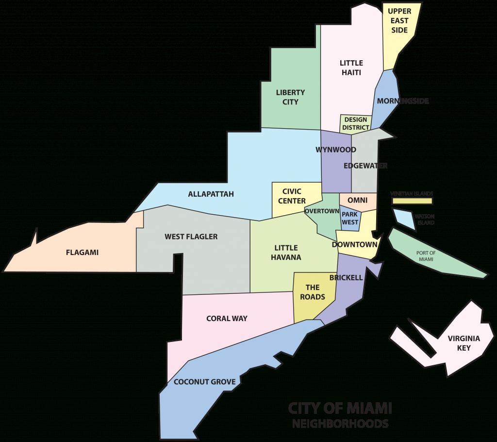 Coconut Grove, Neighborhood Of The City Of Miami (Miami, Florida - Coconut Grove Florida Map