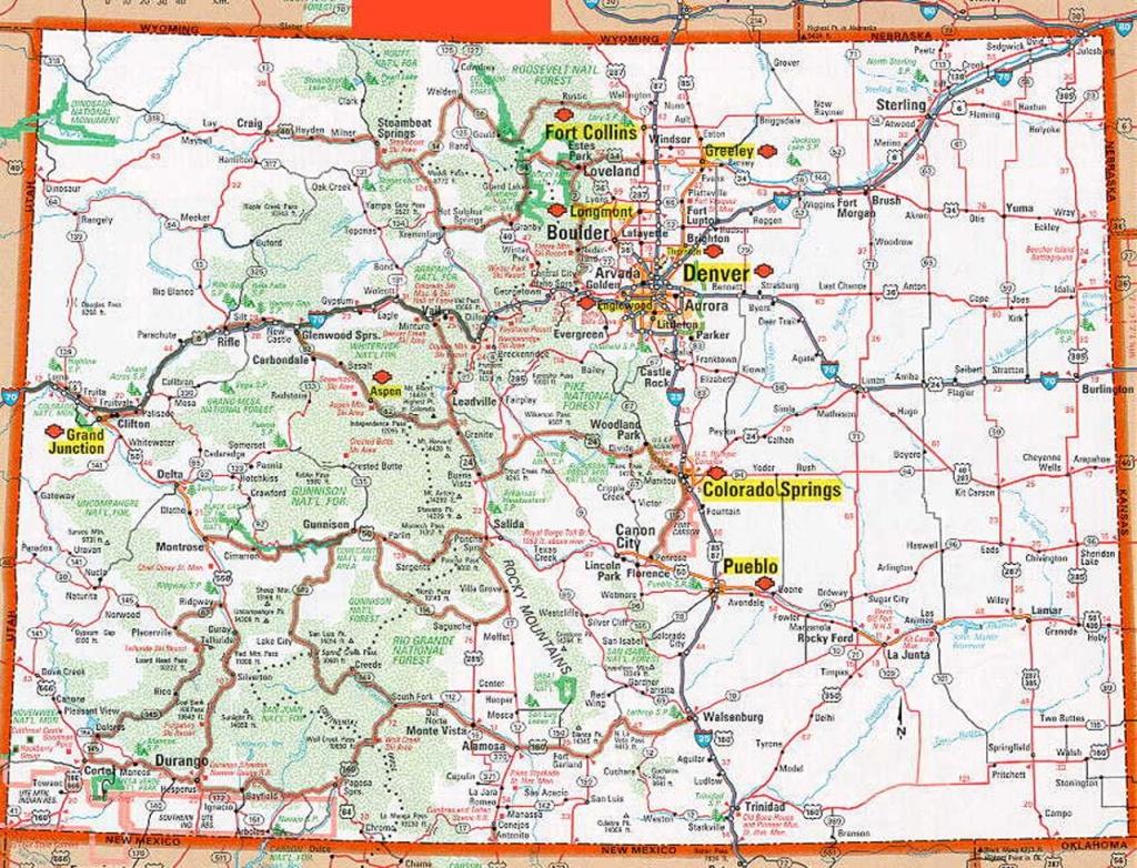 Colorado Map | Frida | Map, Colorado, State Map - Printable Map Of Colorado