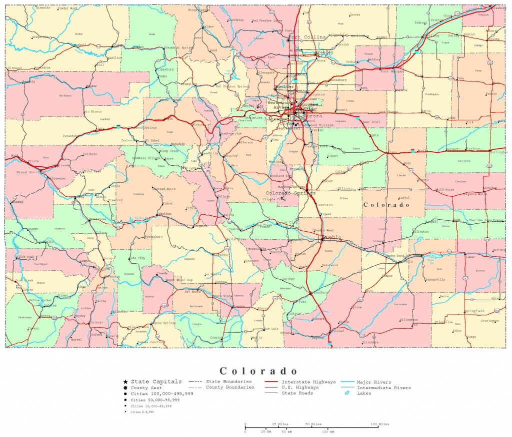 Colorado Printable Map - Printable Map Of Colorado