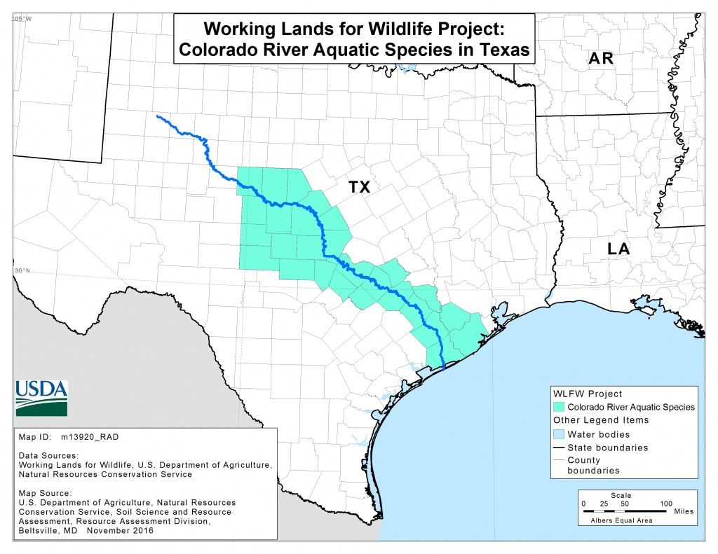 Colorado River Mussels Project | Nrcs - Texas Creeks And Rivers Map