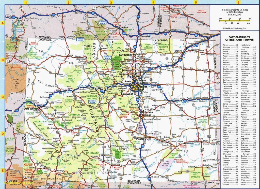 Colorado Road Map Printable | Secretmuseum - Printable Map Of Colorado