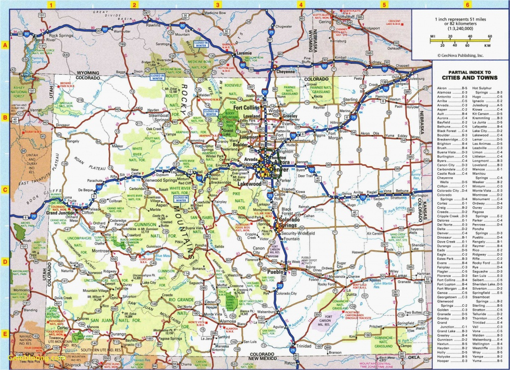 Colorado Road Map Printable   Secretmuseum - Printable Road Maps