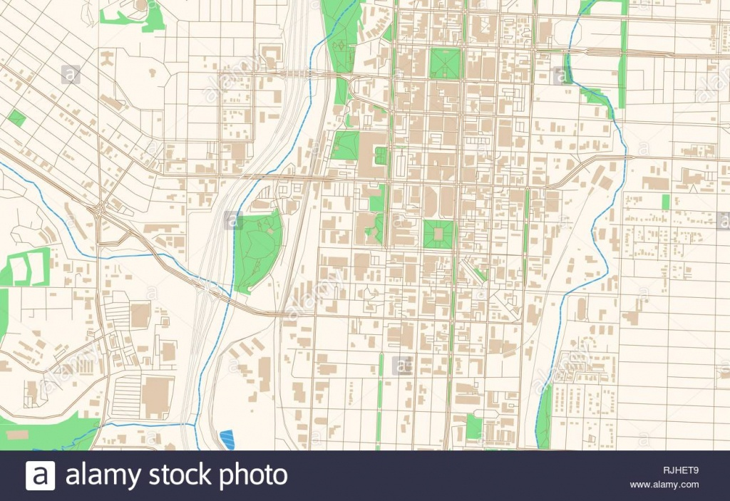 Colorado Springs Colorado Printable Map Excerpt. This Vector - Printable Map Of Colorado Springs