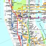 Colored Printable Pdf Manhattan Attractions Map Large   Printable Map Manhattan Pdf
