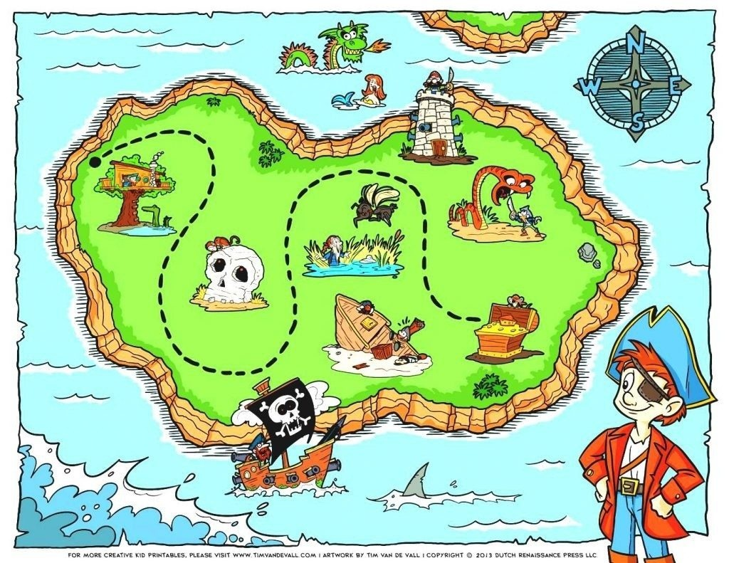 Coloring ~ Inspiration Coloringble Treasure Map Design Pirate Image - Printable Kids Pirate Treasure Map