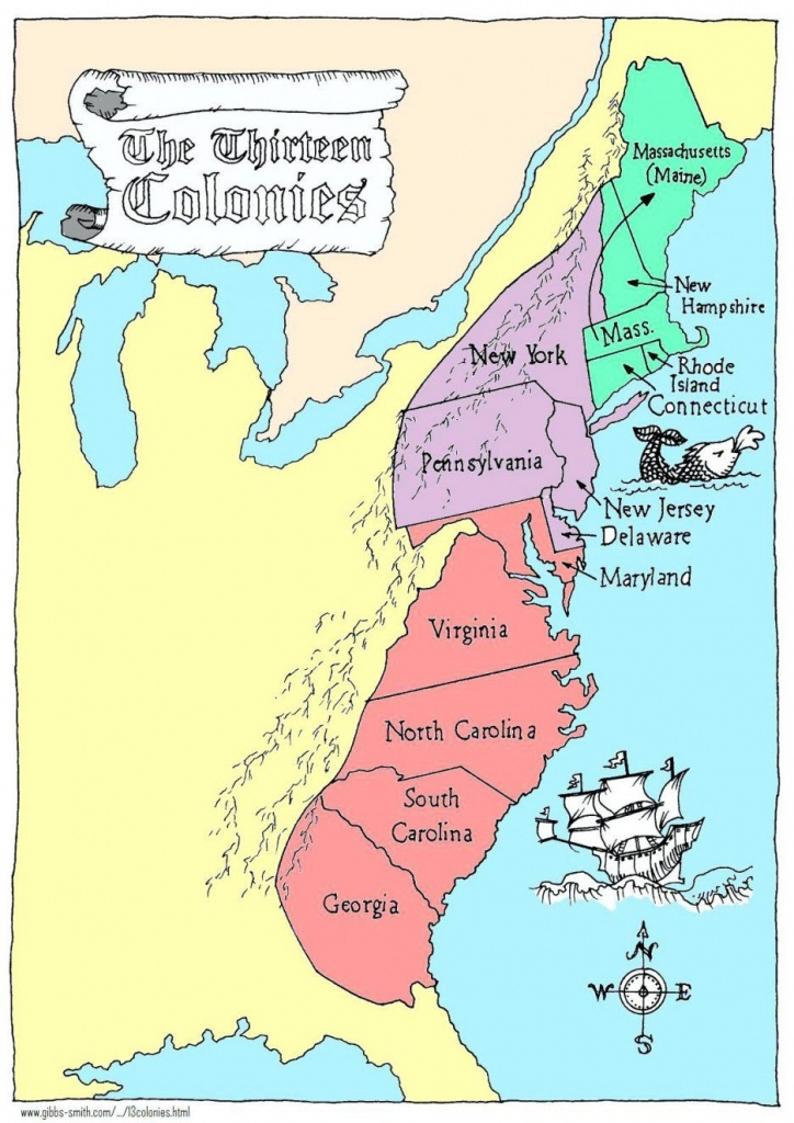 Coloring Pages: 13 Colonies Map Printable Labeled With Cities Blank - New England Colonies Map Printable