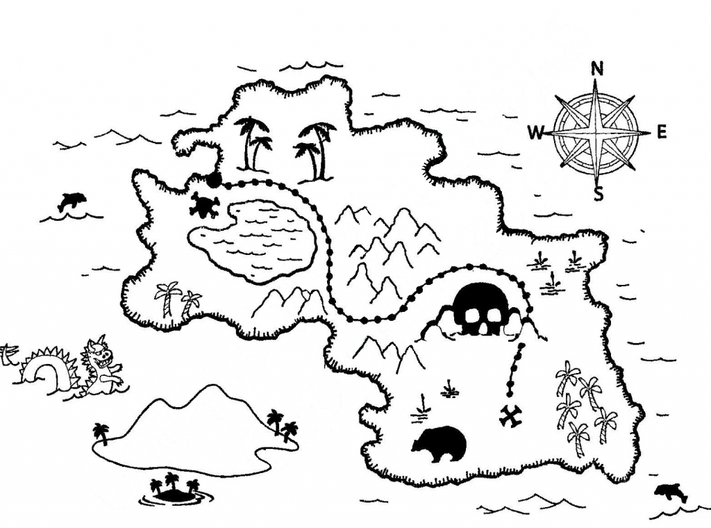 Coloring ~ Pirate Map Coloring Pages Blank Treasure Page Colouring - Printable Treasure Map Coloring Page