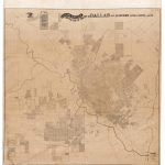 Colossal And Unrecorded Wall Map Of Dallas, Texas   Texas Wall Map