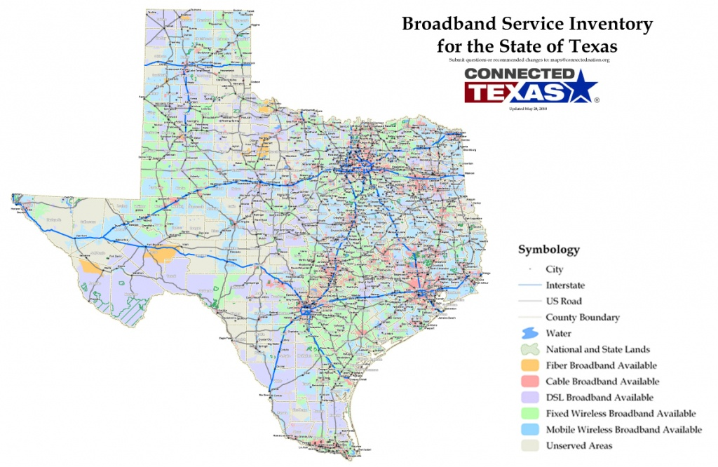 Commissioner Staples Releases Statewide Map To Identify Broadband - Texas Fiber Optic Map