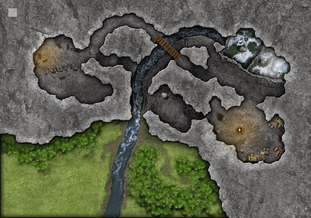 Community Made Lost Mine Of Phandelver Maps ~ Dnd Online Collective - Cragmaw Hideout Printable Map