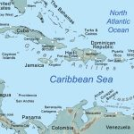 Comprehensive Map Of The Caribbean Sea And Islands   Printable Road Map Of St Maarten