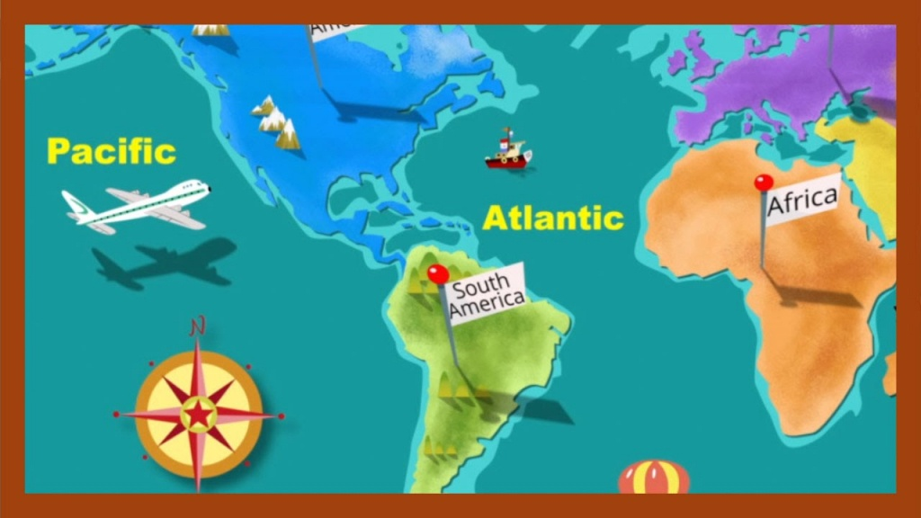 """""""continents And Oceans""""abcmouse - Free Printable Map Of Continents And Oceans"""