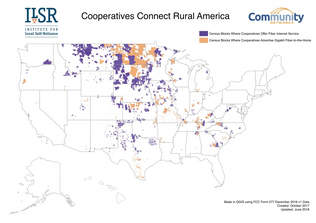 Cooperatives Build Community Networks | Community Broadband Networks - Texas Electric Cooperatives Map