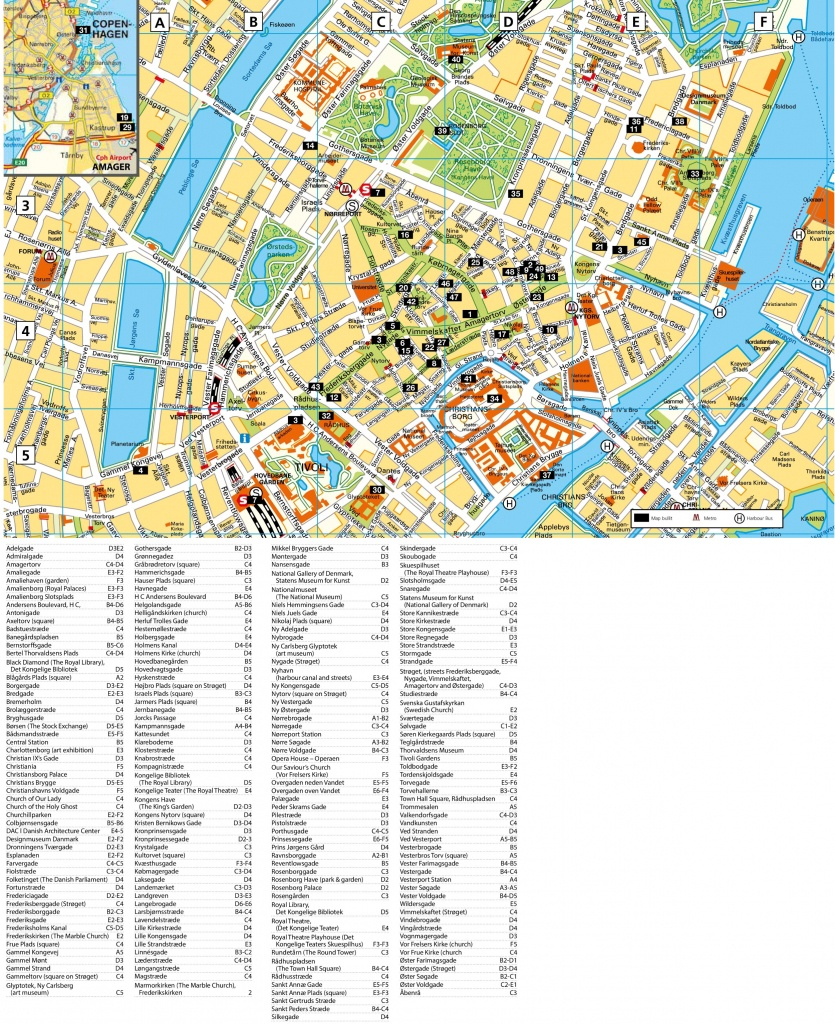 Copenhagen Tourist Attractions Map - Printable Map Of Copenhagen